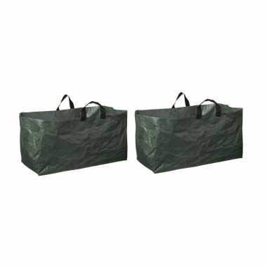 10x groene kofferbak afvalzakken opvouwbaar 225 liter