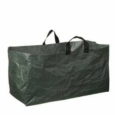 1x groene kofferbak afvalzakken opvouwbaar 225 liter