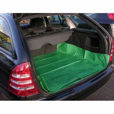 2x auto kofferbak bescherming beschermzeil groen 180 x 123 cm