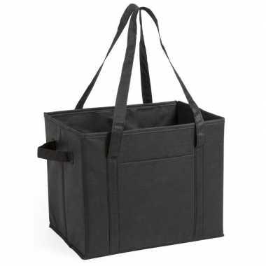3x stuks auto kofferbak/kasten organizer tassen zwart vouwbaar 34 x 2