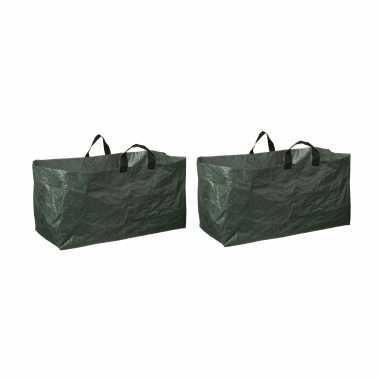 8x groene kofferbak afvalzakken opvouwbaar 225 liter