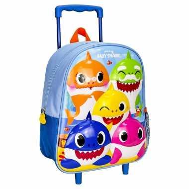 Baby shark trolley/reiskoffer rugtas voor kinderen