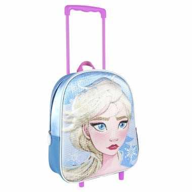 Disney frozen elsa trolley/reiskoffer rugtas voor kinderen