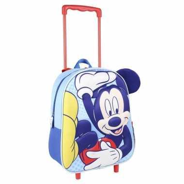 Disney mickey mouse trolley/reiskoffer rugtas voor kinderen
