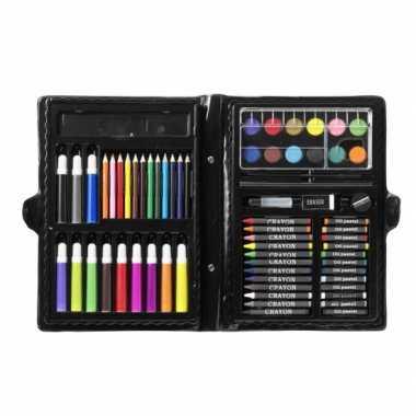 Kleurkoffer/tekenkoffer 68-delig voor kinderen