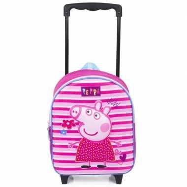 Peppa pig 3d handbagage reiskoffer/trolley 31 cm voor kinderen