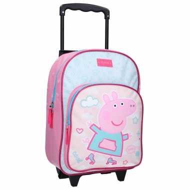 Peppa pig handbagage reiskoffer trolley 38 cm voor kinderen