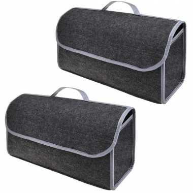 Set van 2x stuks kofferbak organizers kofferbaktas 15 5 liter