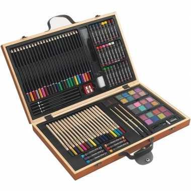 Tekenset/kleurset koffer 88-delig