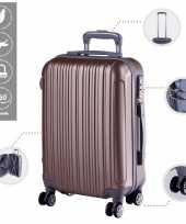 Cabine trolley koffer met zwenkwielen 33 liter goud 10296518