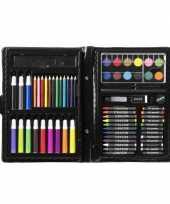 Kleurkoffer tekenkoffer 68 delig voor kinderen
